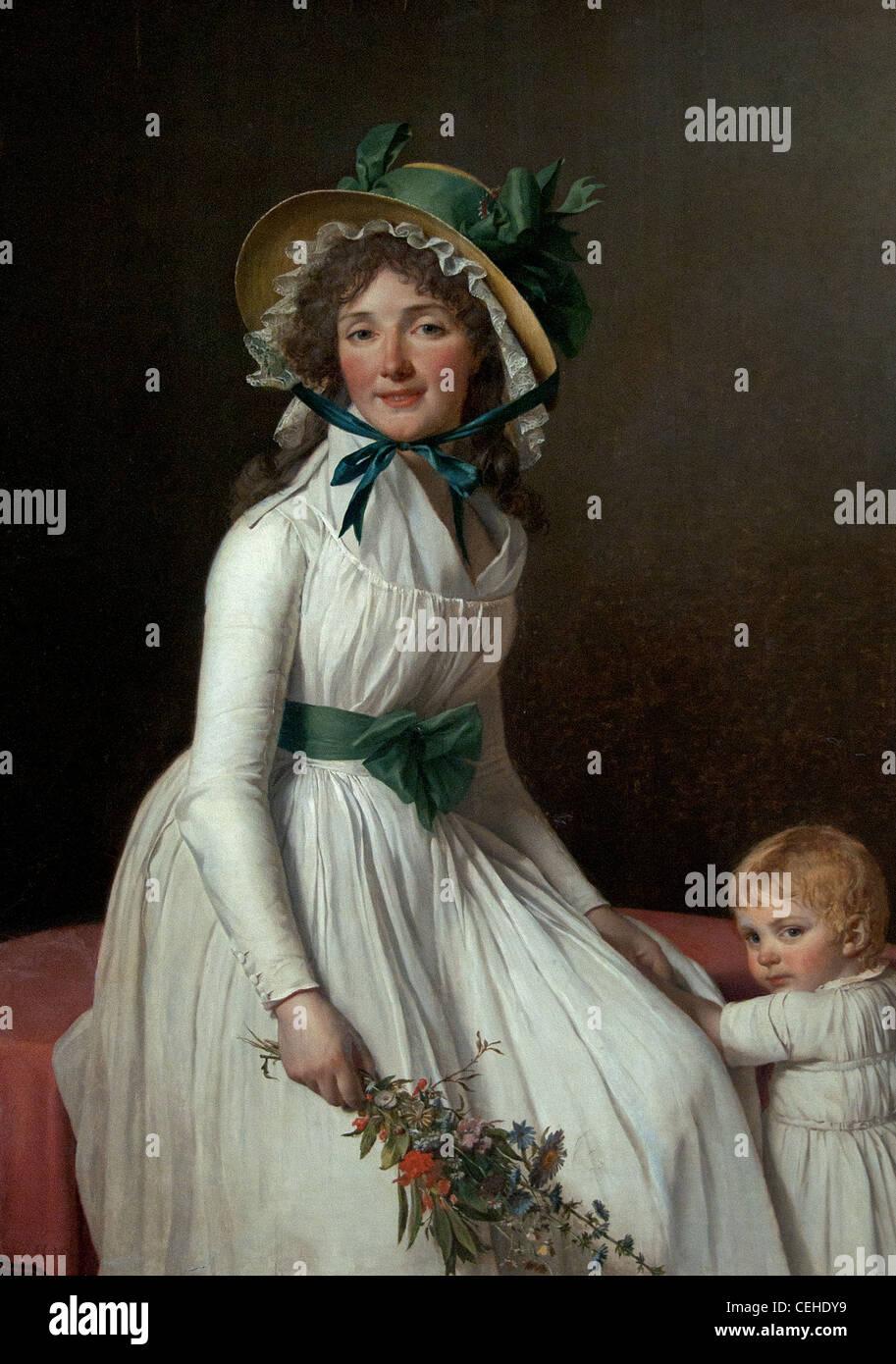 Madame Pierre Seriziat 1795 Jacques-Louis David 1748 – 1825 France French - Stock Image