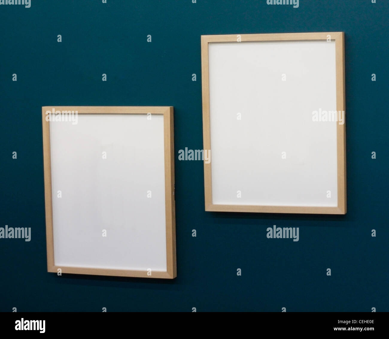 Empty frames on wall - Stock Image