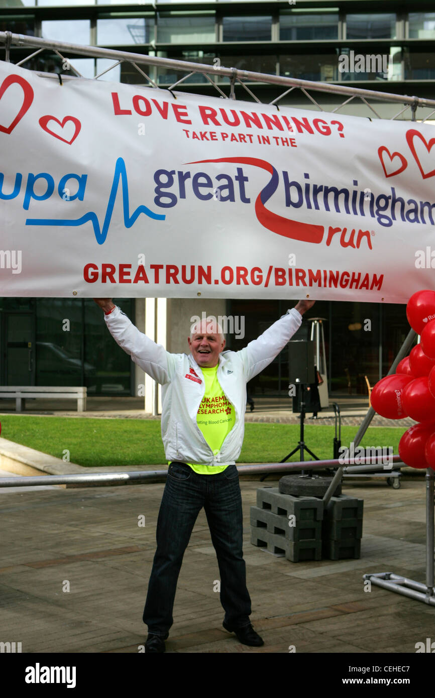 Actor Chris Chittell, ITV Emmerdale's Eric Pollard launches the great Birmingham run at Brindley Place Birmingham - Stock Image