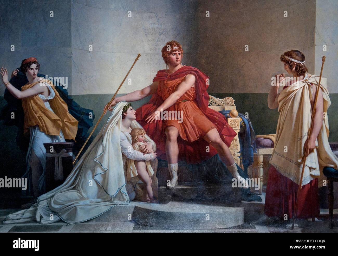 Phèdre et Hippolyte by Baron Pierre-Narcisse Guérin 1802 France French - Stock Image