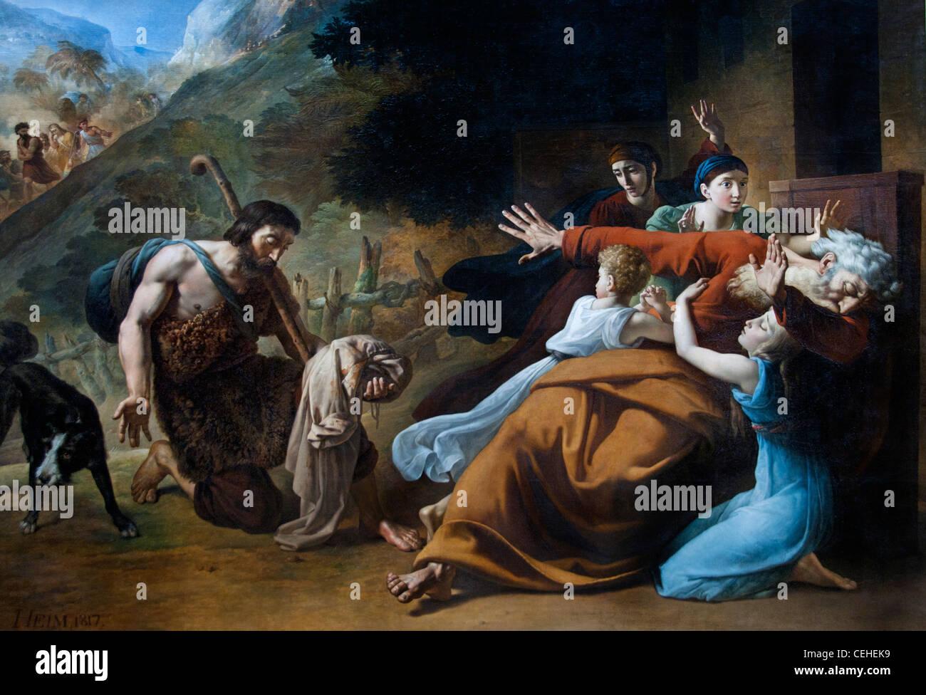 La Robe Ensanglantee 1817 The bloody robe Heim Francois Joseph French France - Stock Image