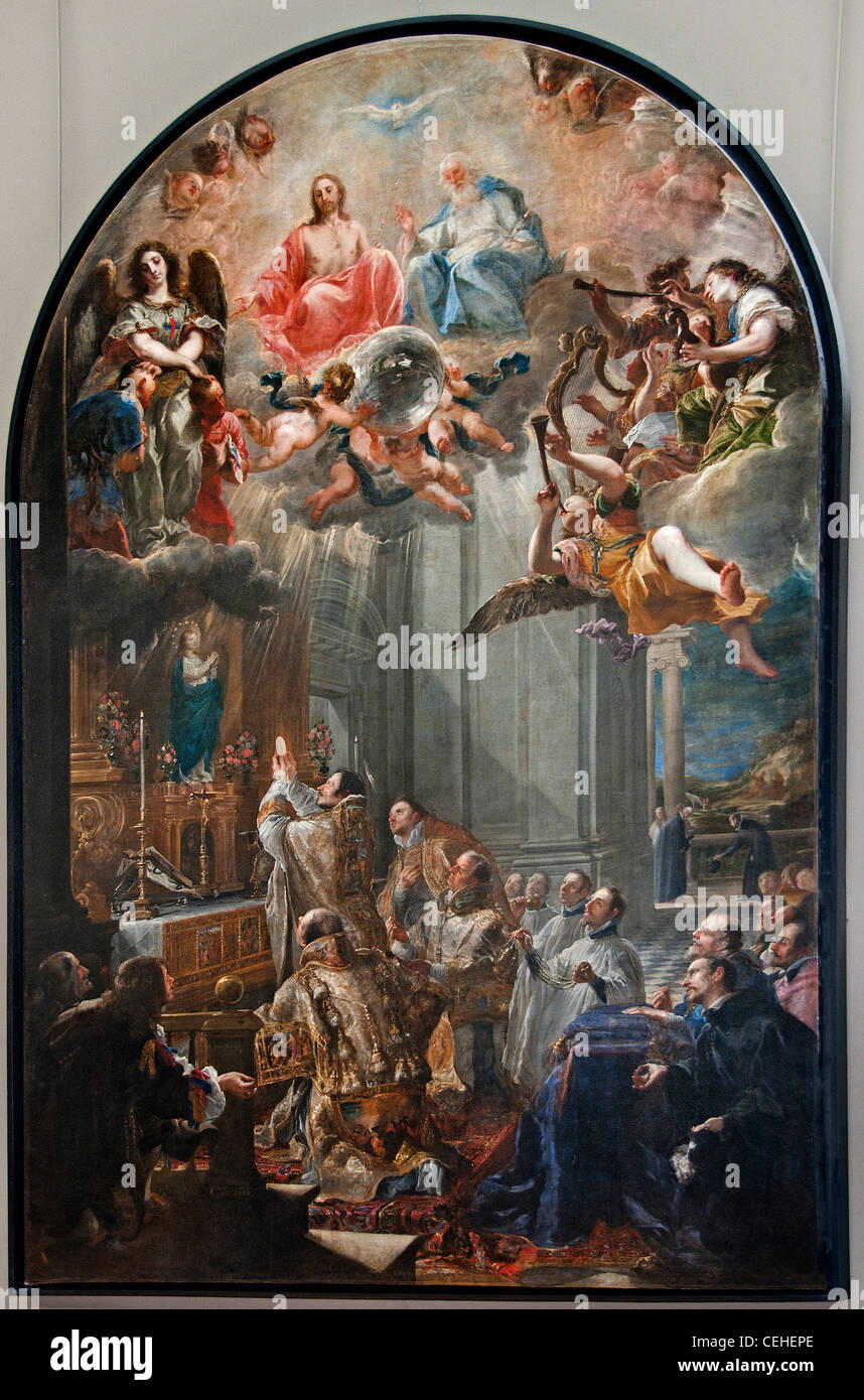 Mass of the Foundation of the Holy Trinity 17th C. Juan Carreno de Miranda 1614-1685 Spanish - Stock Image