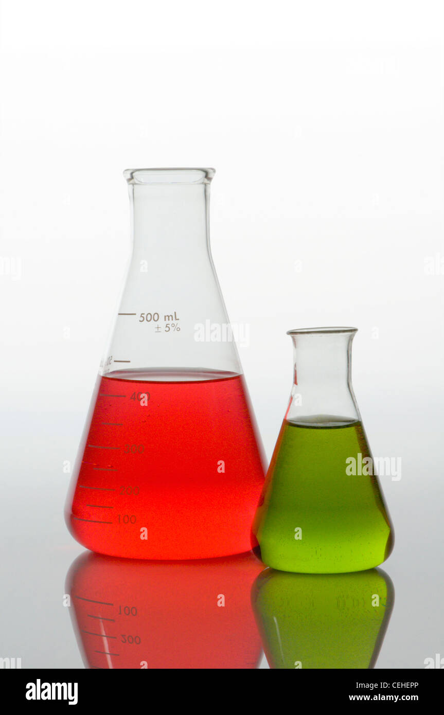 Lab glass science lab - Stock Image