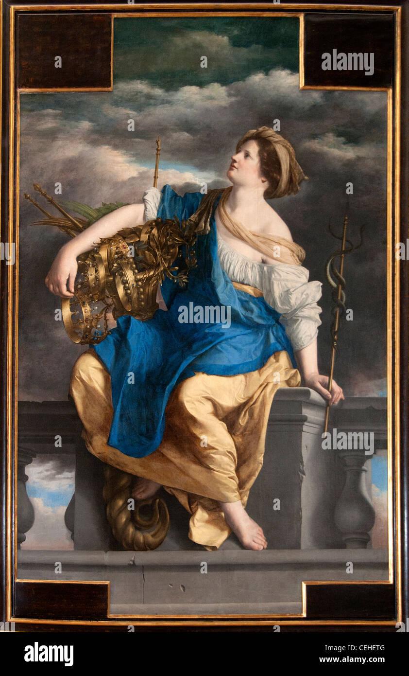La Félicité publique triomphant des Dangers 1625  Bliss Public triumphant Hazards by Orazio GENTILESCHI - Stock Image