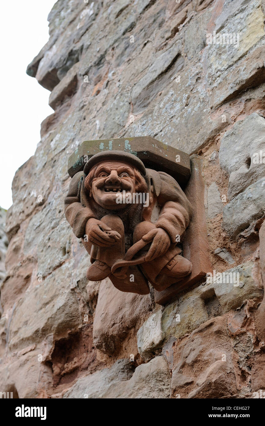 Copies Of Carved Corbels Stone Supports Used To Support The Roof Of Stock Photo Alamy