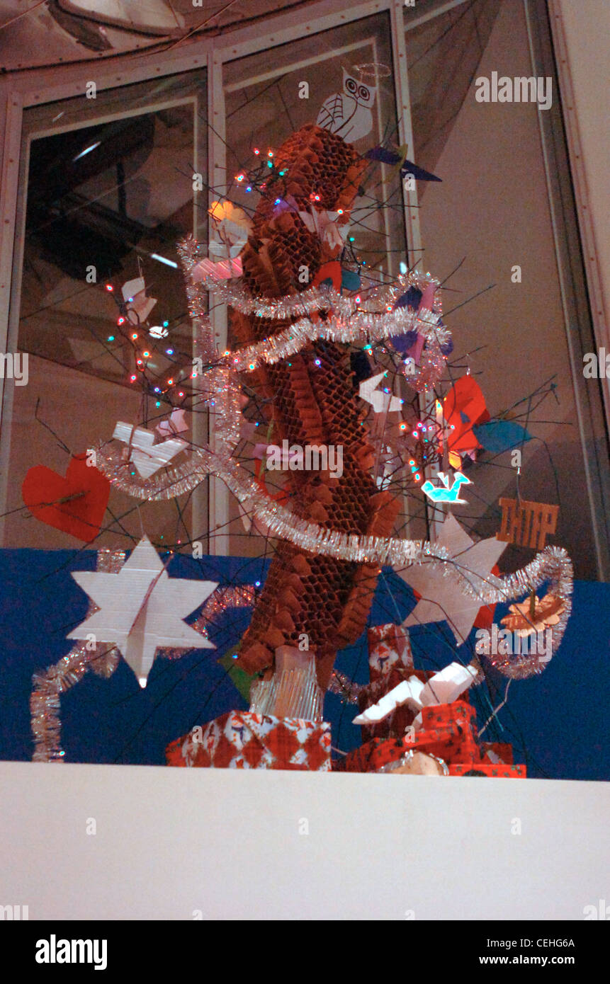 Very Gehry Christmas Tree Hack at MIT, 2007 - Stock Image