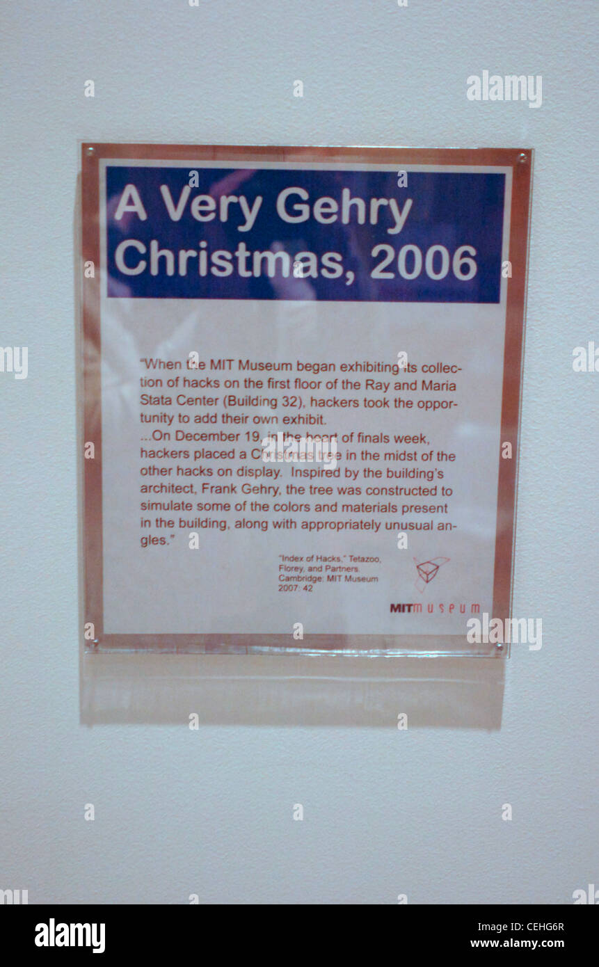 The sign accompanying the Christmas Tree hack reads, 'A Very Ghery Christmas, 2006. - Stock Image