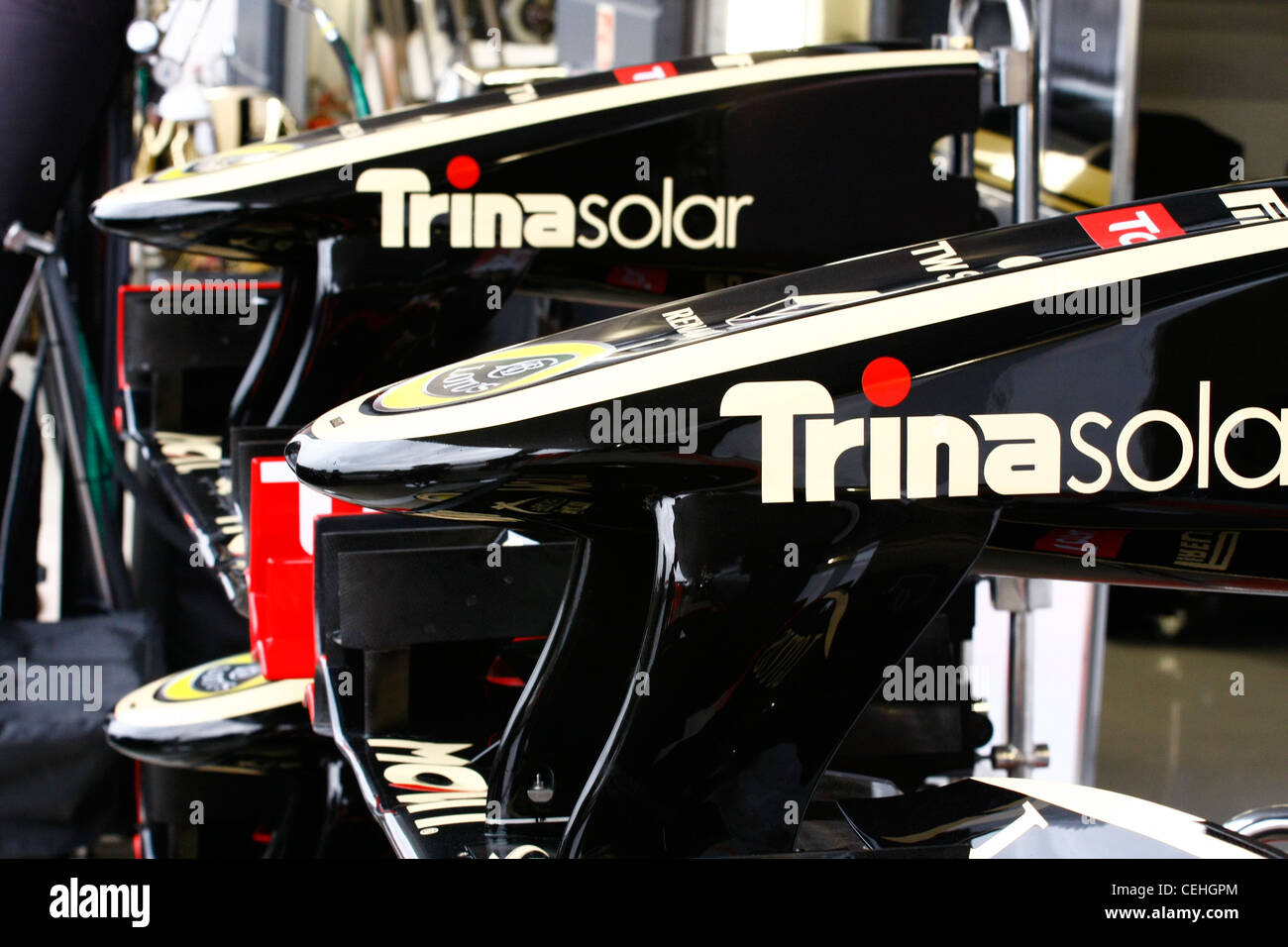f1, pit lane, Silverstone, grand prix, - Stock Image
