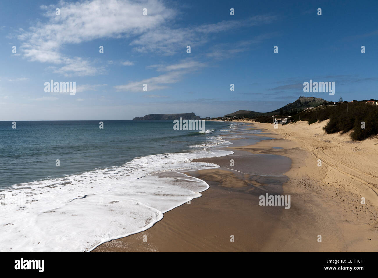 Porto Santo beach, Portugal - Stock Image