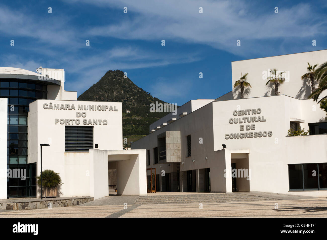 Camara de Municipal Porto Santo, Portugal - Stock Image