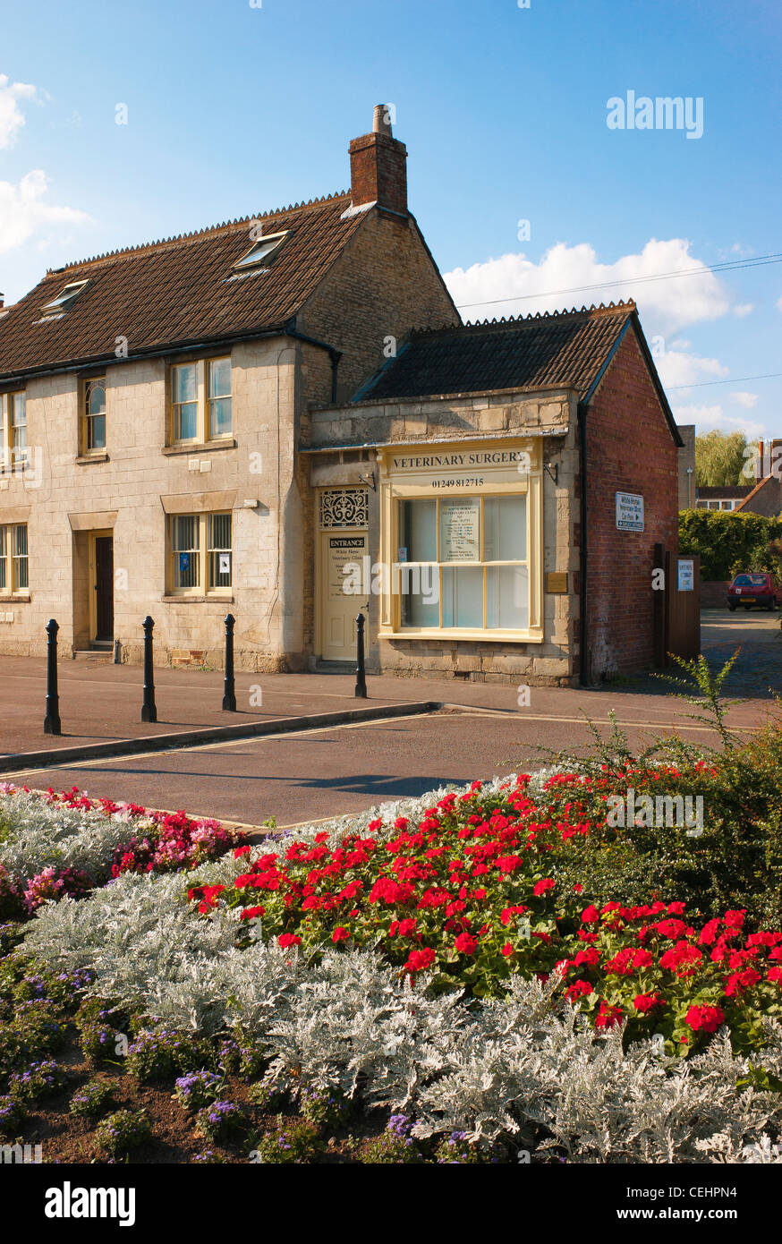 Exterior of veterinary surgery in Calne UK - Stock Image