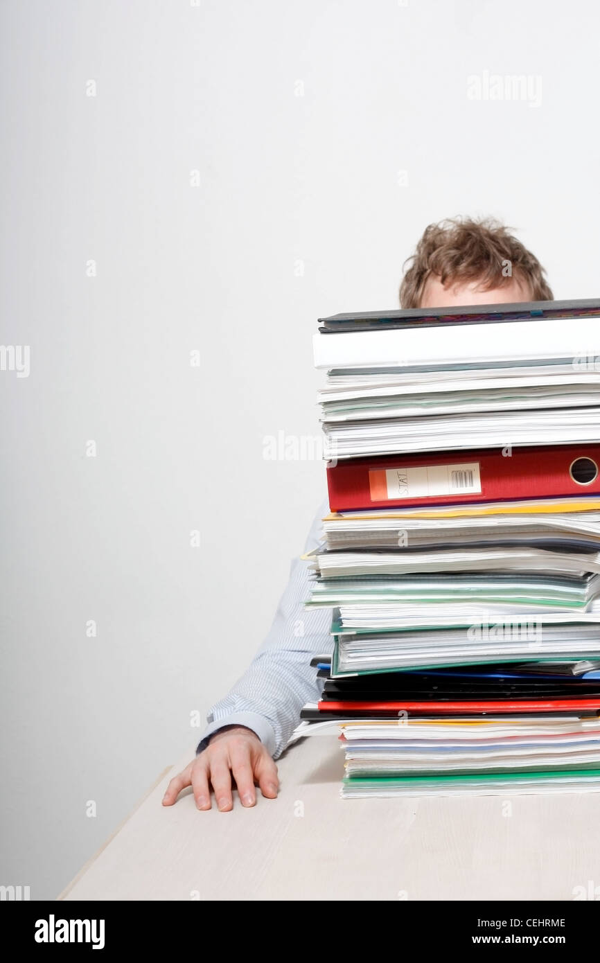A young frustrated business man - Stock Image