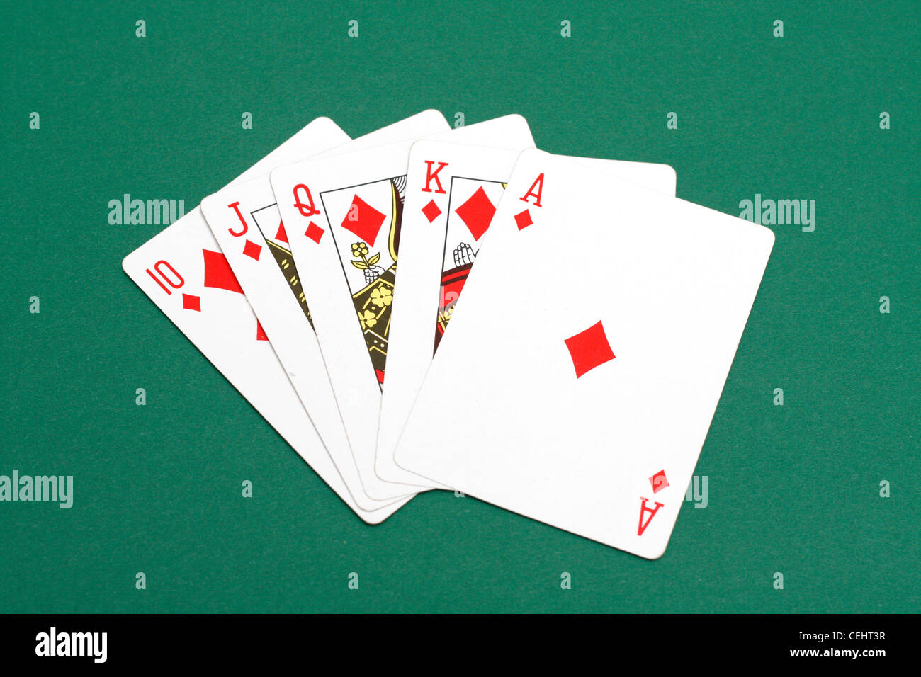 A perfect poker hand - Stock Image