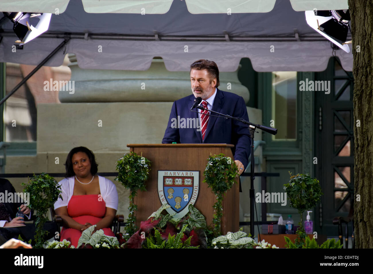 Alec Baldwin at the HLS Commencement 2011 (Harvard Law School graduation) in Cambridge, MA Stock Photo