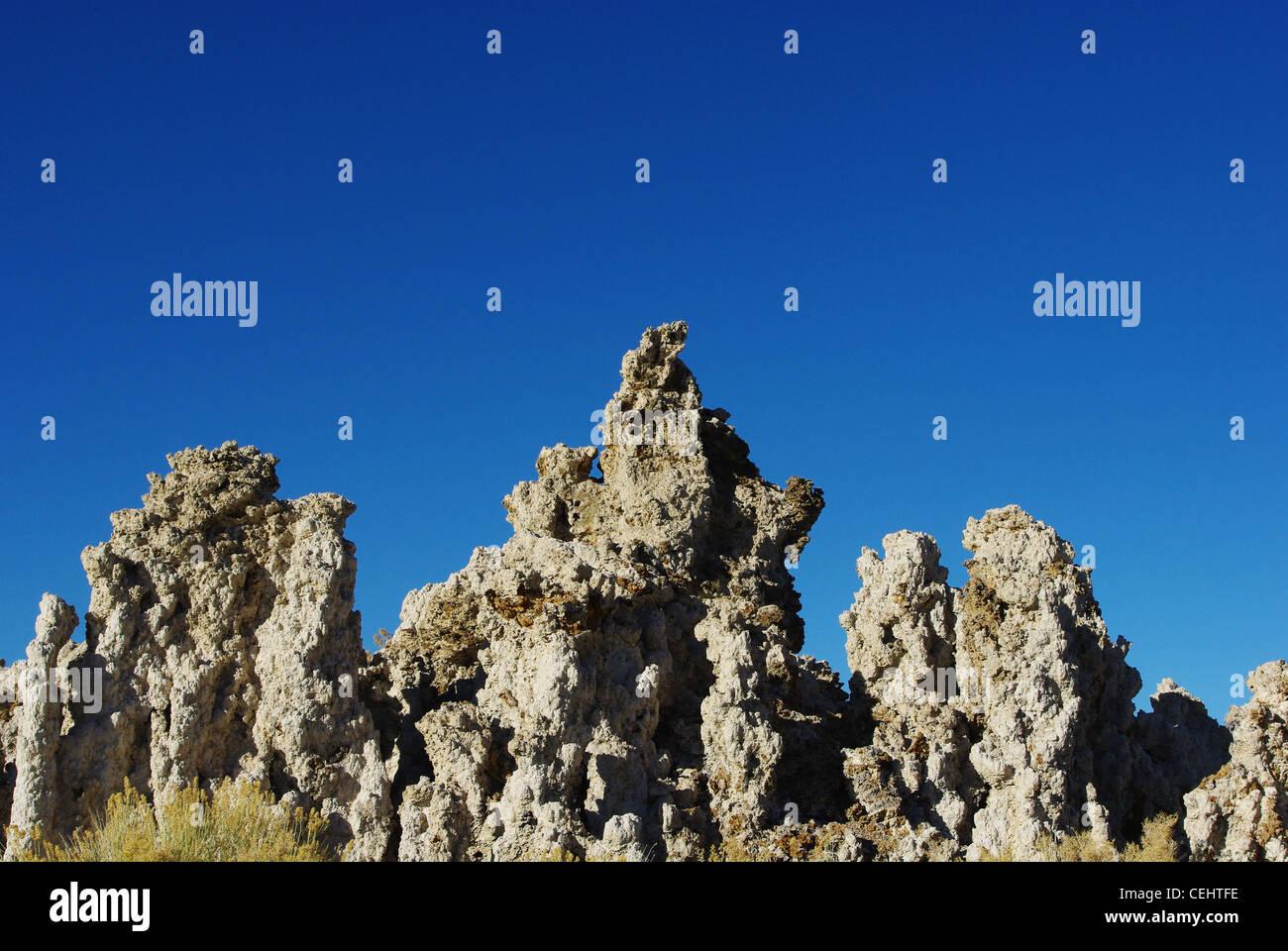 Tufa formations, Mono Lake, California - Stock Image