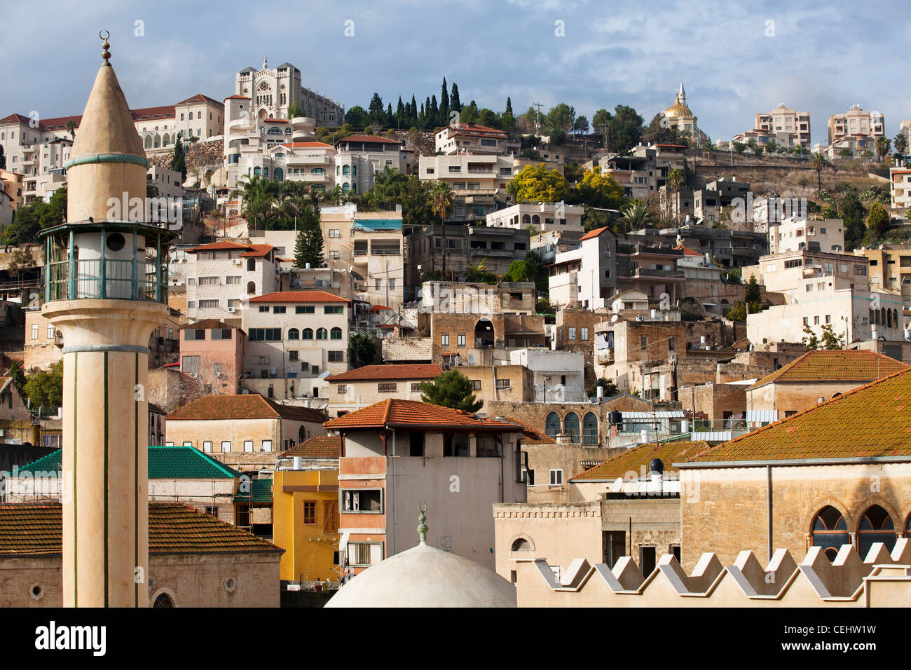 Roofs of the old city of Nazareth, Israel. Middle East - Stock Image