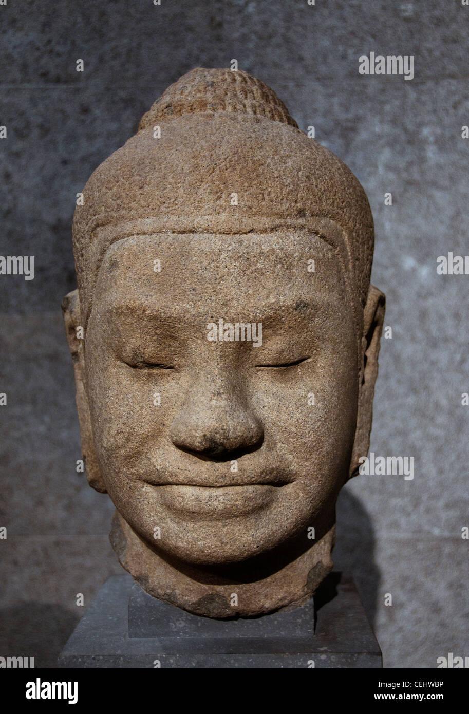 Buddha Angkor Vat 13 Century Cambodia Bayon style - Stock Image