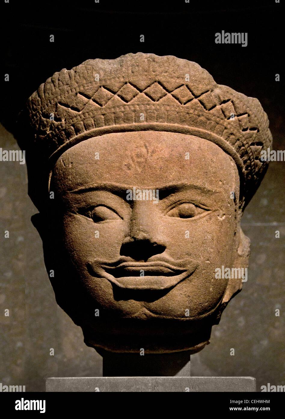 Divinite masculine - male deity 12 Century Cambodia Angor Wat Style - Stock Image