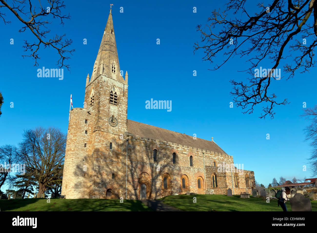 Saxon church - Stock Image