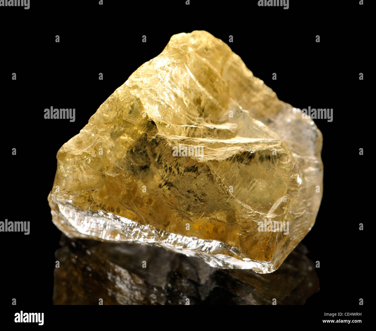 Natural uncut Citrine crystal - Stock Image