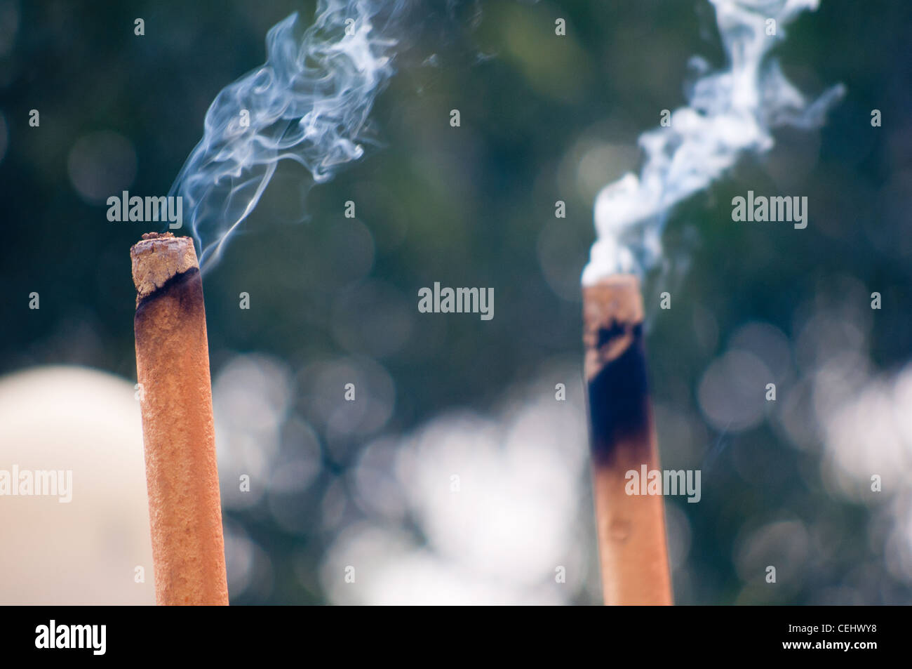 Incense burning Stock Photo