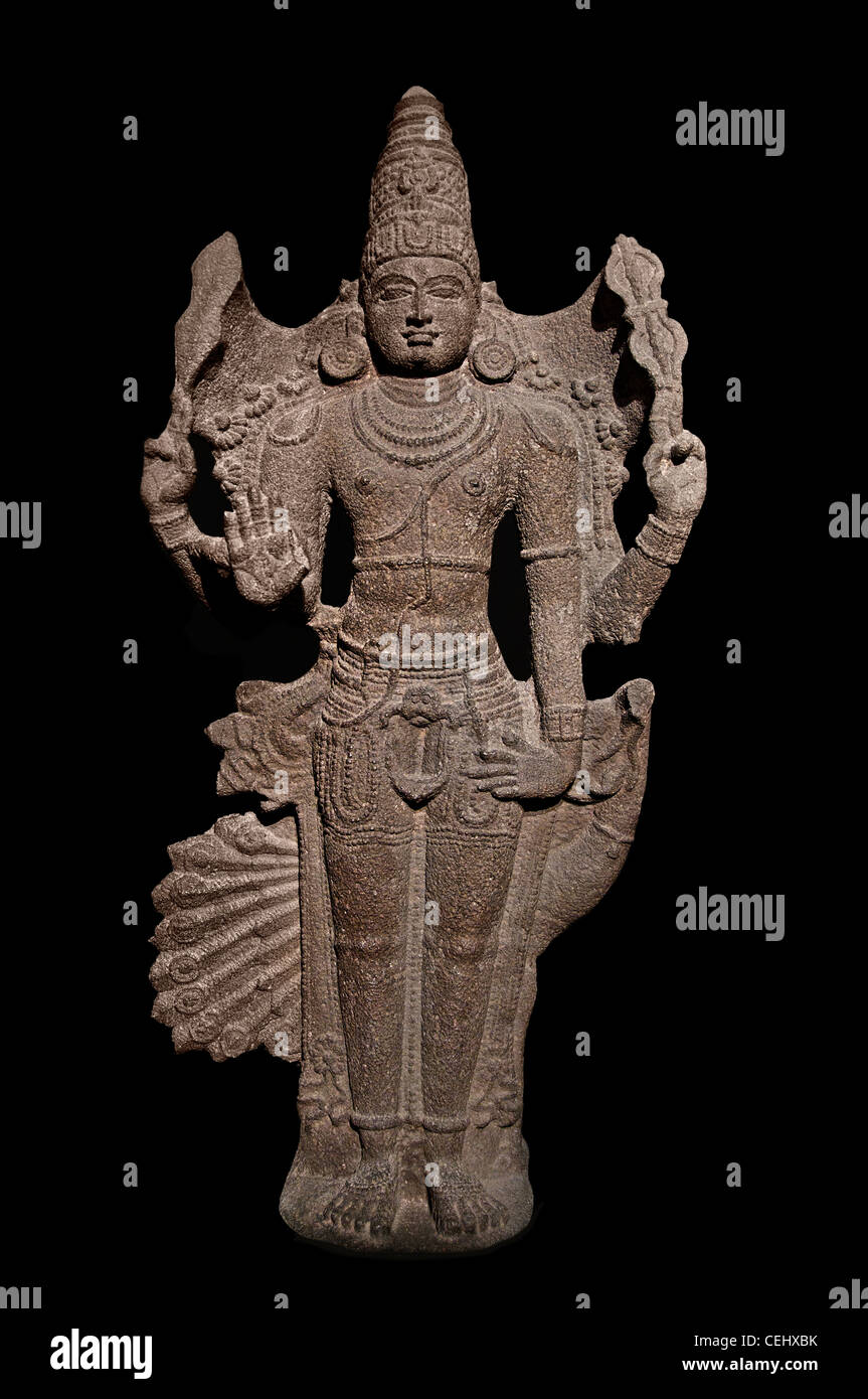 Skanda god of war chief of the army of the gods Tamil Nadu 14 -15 Century India - Stock Image