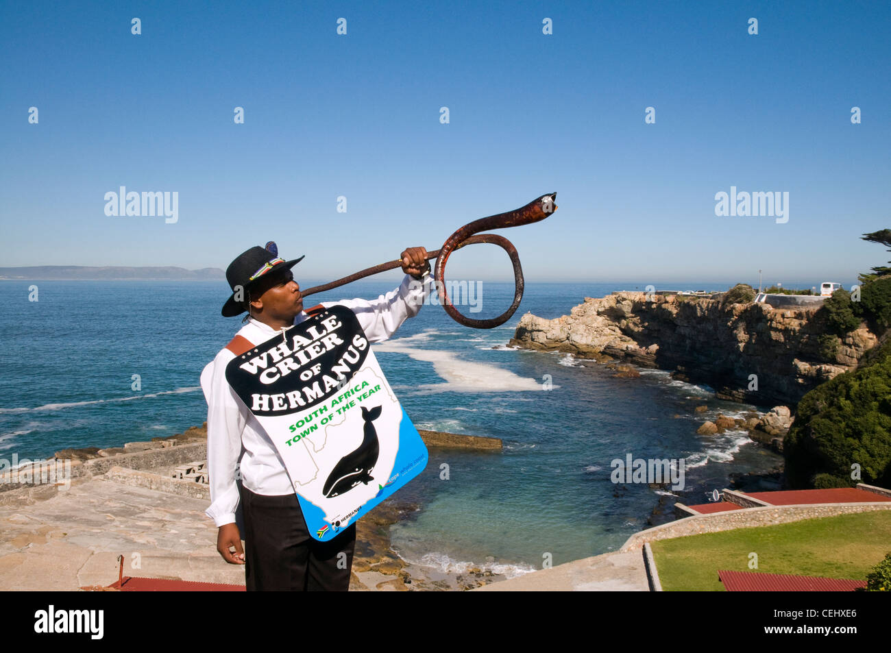 Whale Crier,Hermanus,Western Cape Province - Stock Image