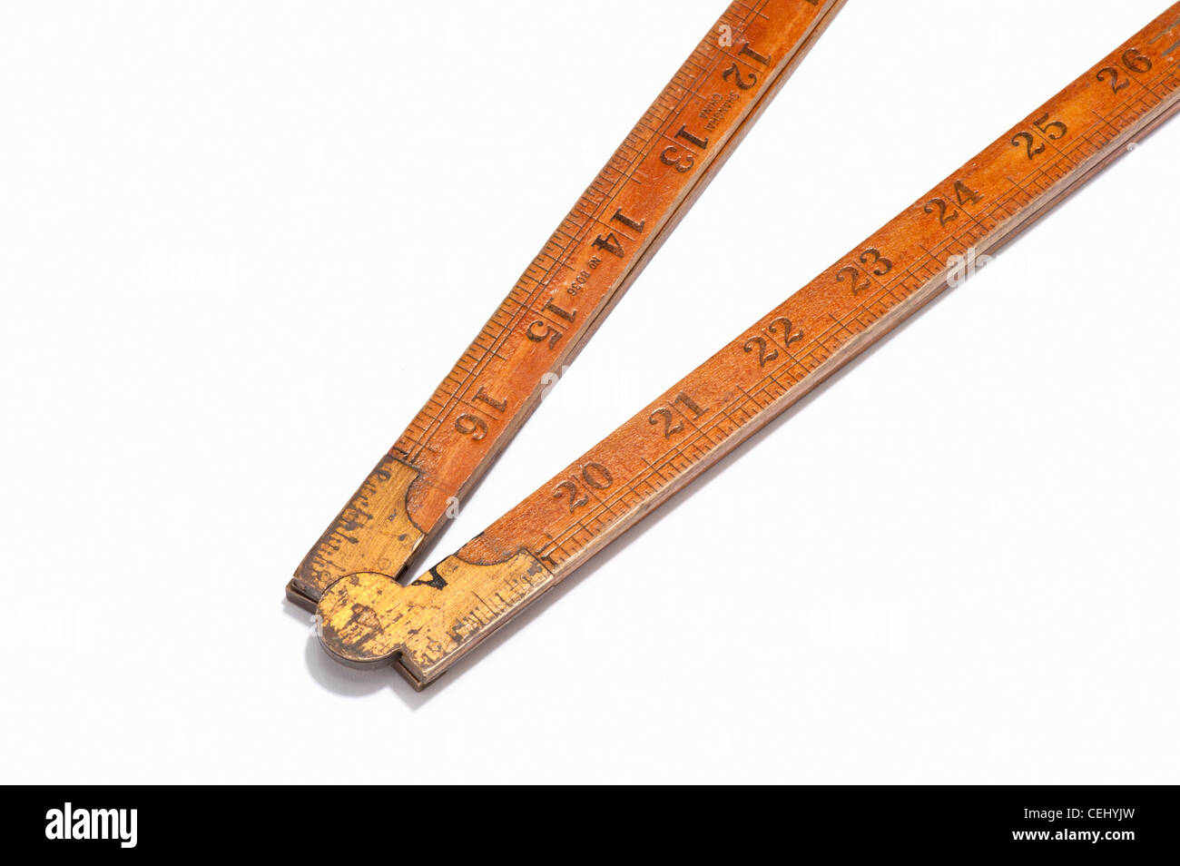 A wooden ruler - Stock Image