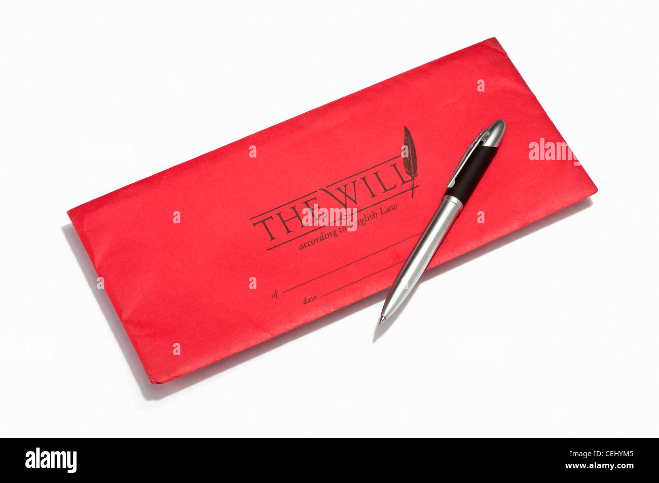 A will document and a pen - Stock Image