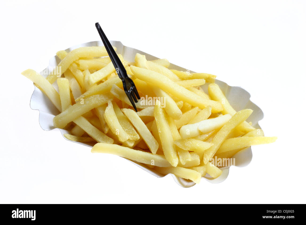 Nutrition, fast food. French fries. - Stock Image