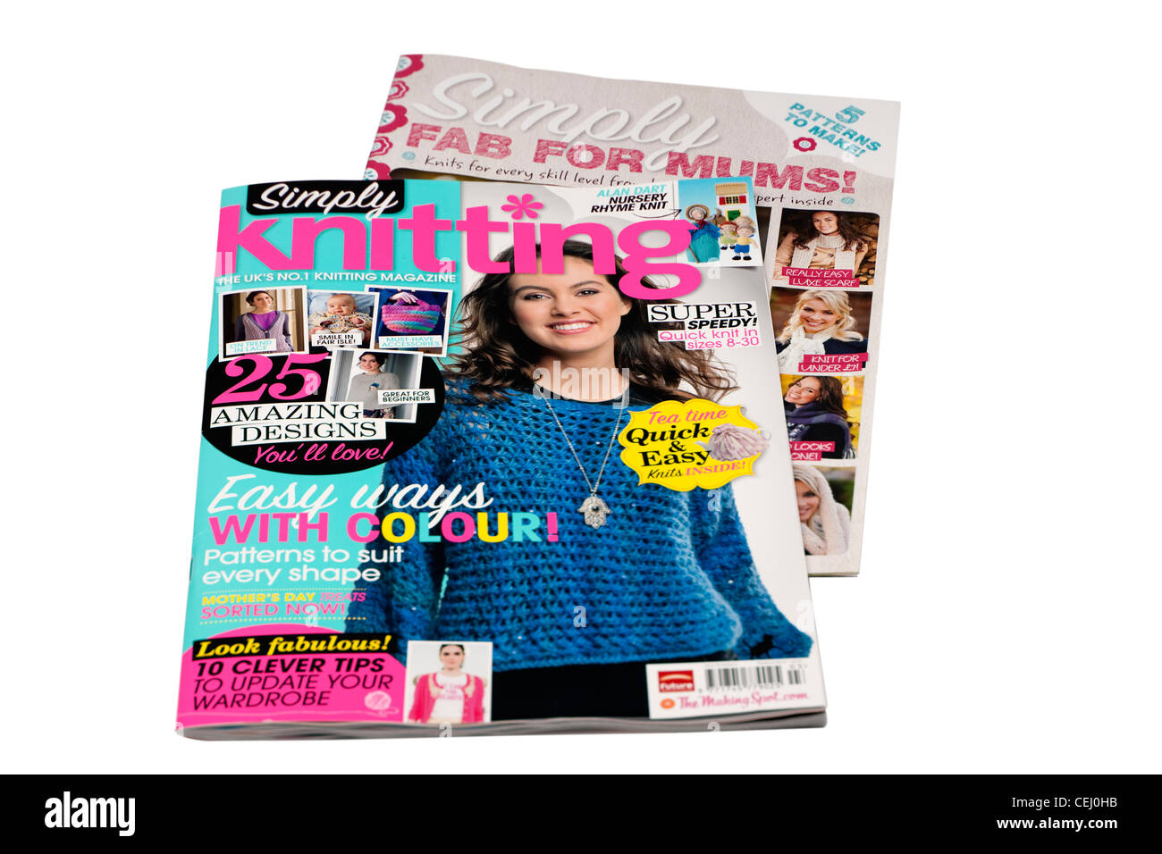 Ladies Simply Knitting magazine with supplement - Stock Image