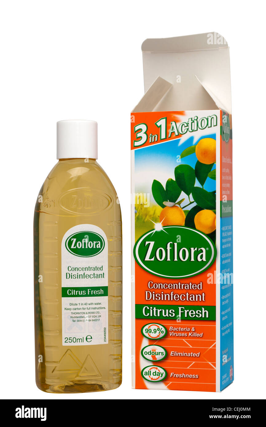 250 ml bottle of Zoflora concentrated disinfectant - Stock Image