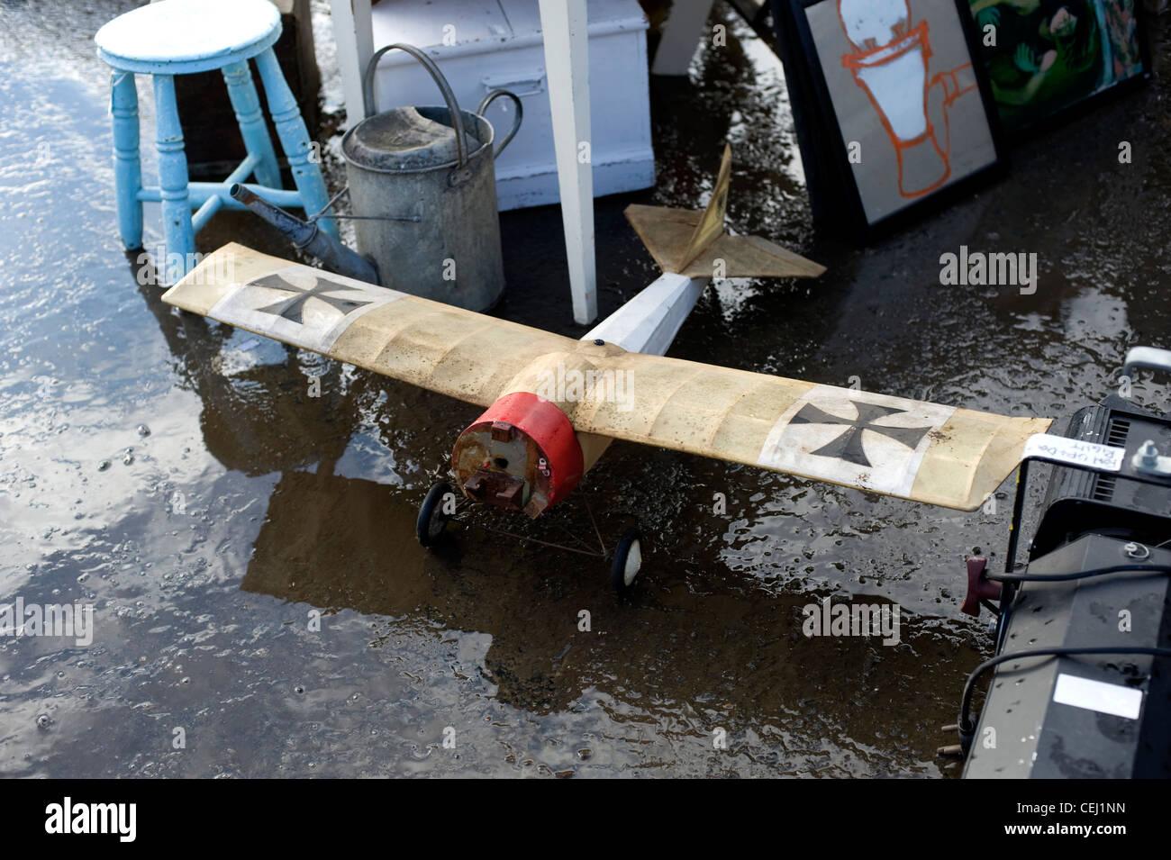Model of German war plane, Ardingly Antiques Fair, West Sussex, England, UK Stock Photo