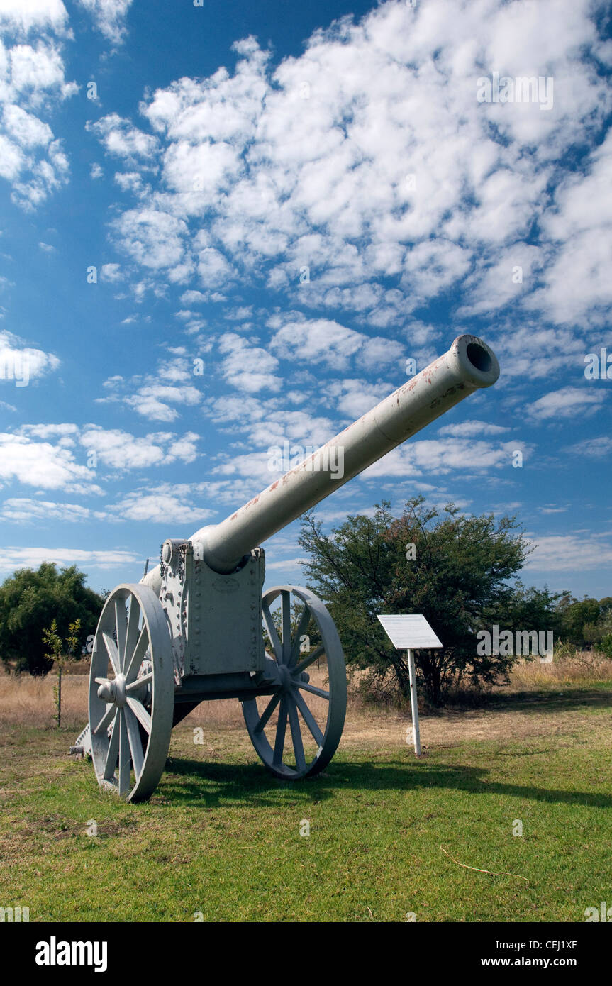 Canon at Anglo-Boer War Museum,Bloemfontein,Freestate,South Africa - Stock Image