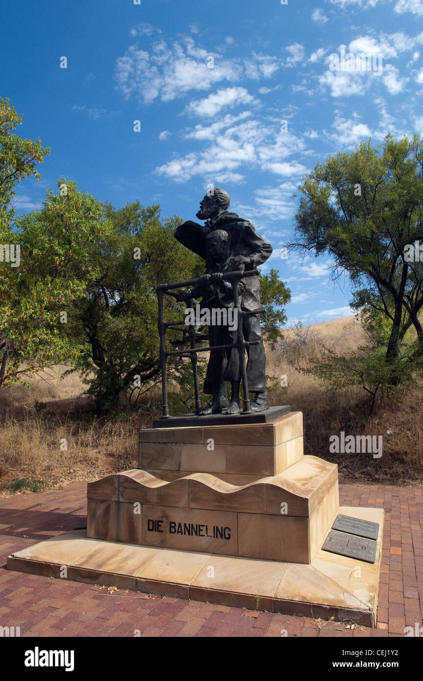Statue at Anglo-Boer War Museum,Bloemfontein,Freestate,South Africa - Stock Image