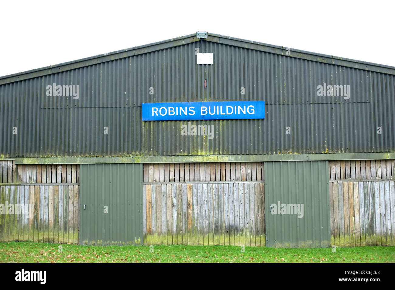Robins Building, South of England Showground, Ardingly antiques fair, West Sussex, England, UK - Stock Image