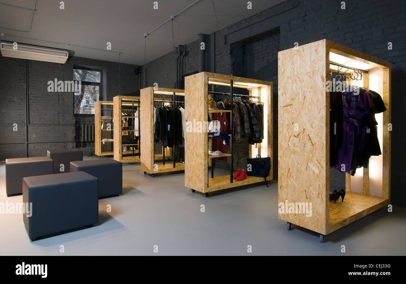 Clothes store boutique interior Stock Photo 43423508 Alamy