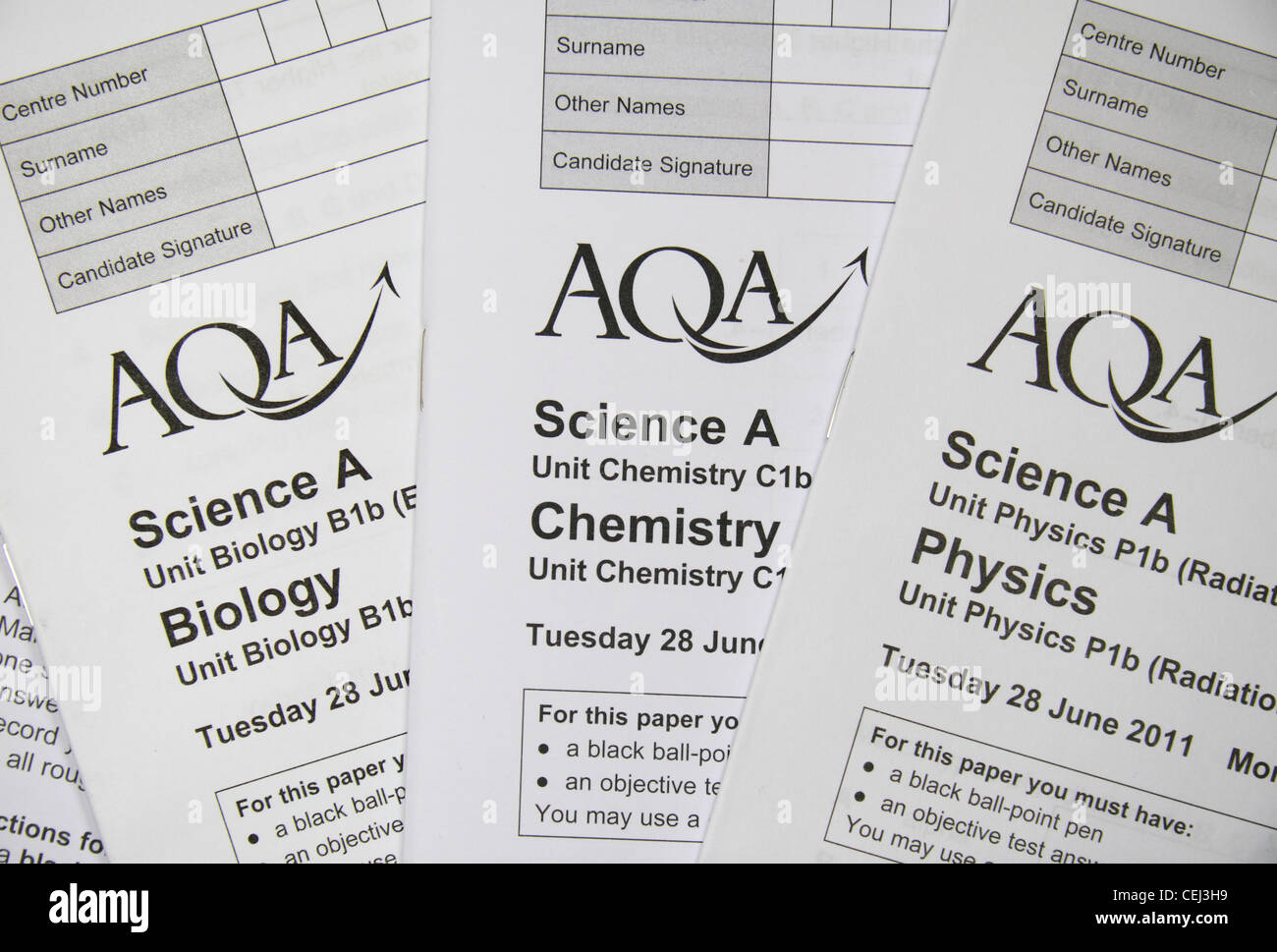 Close up the Biology, Chemistry & Physics Science (Higher