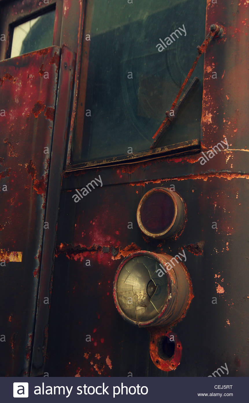 Detail of an Old Locomotive - Stock Image