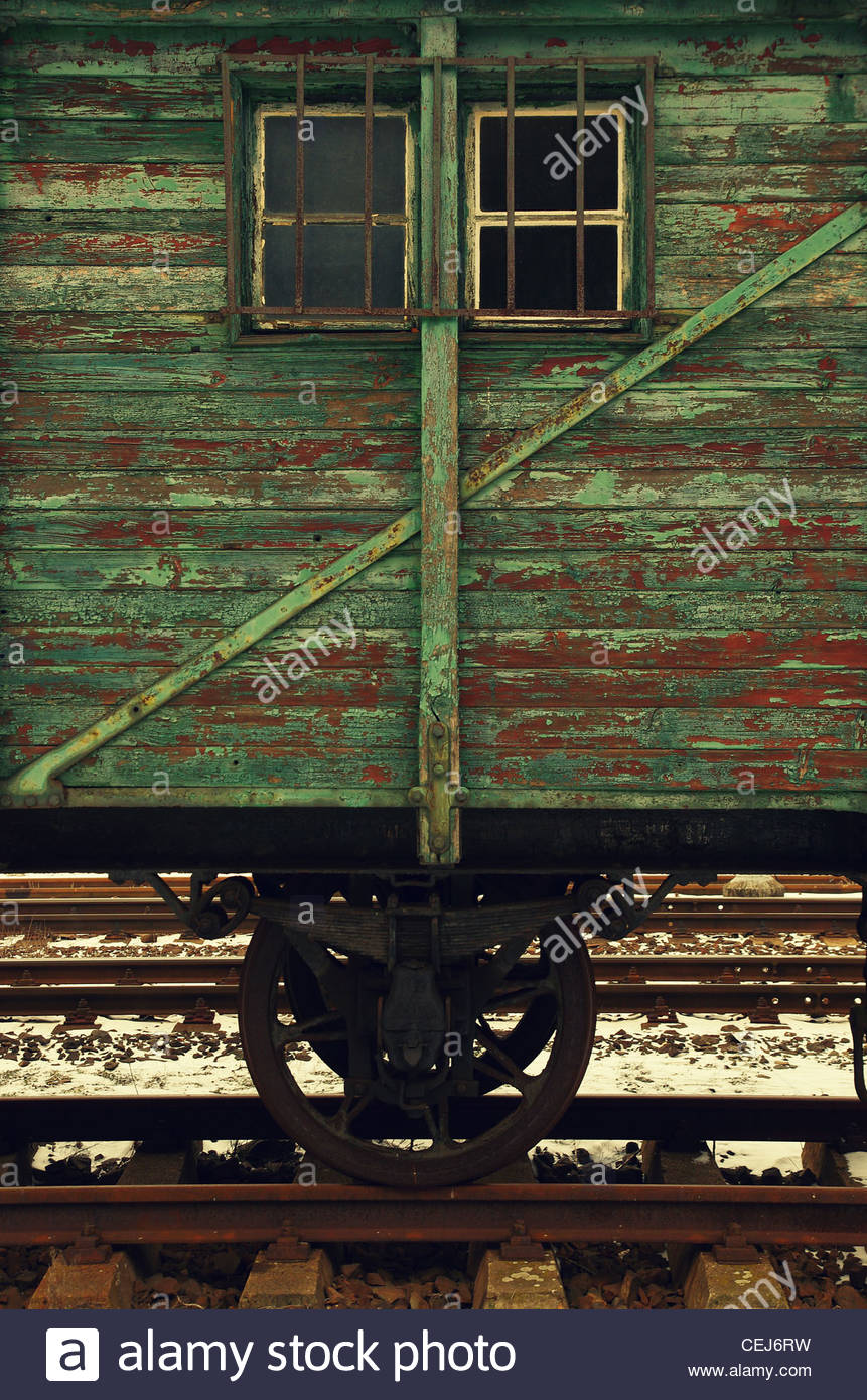Detail of an Old Wagon - Stock Image