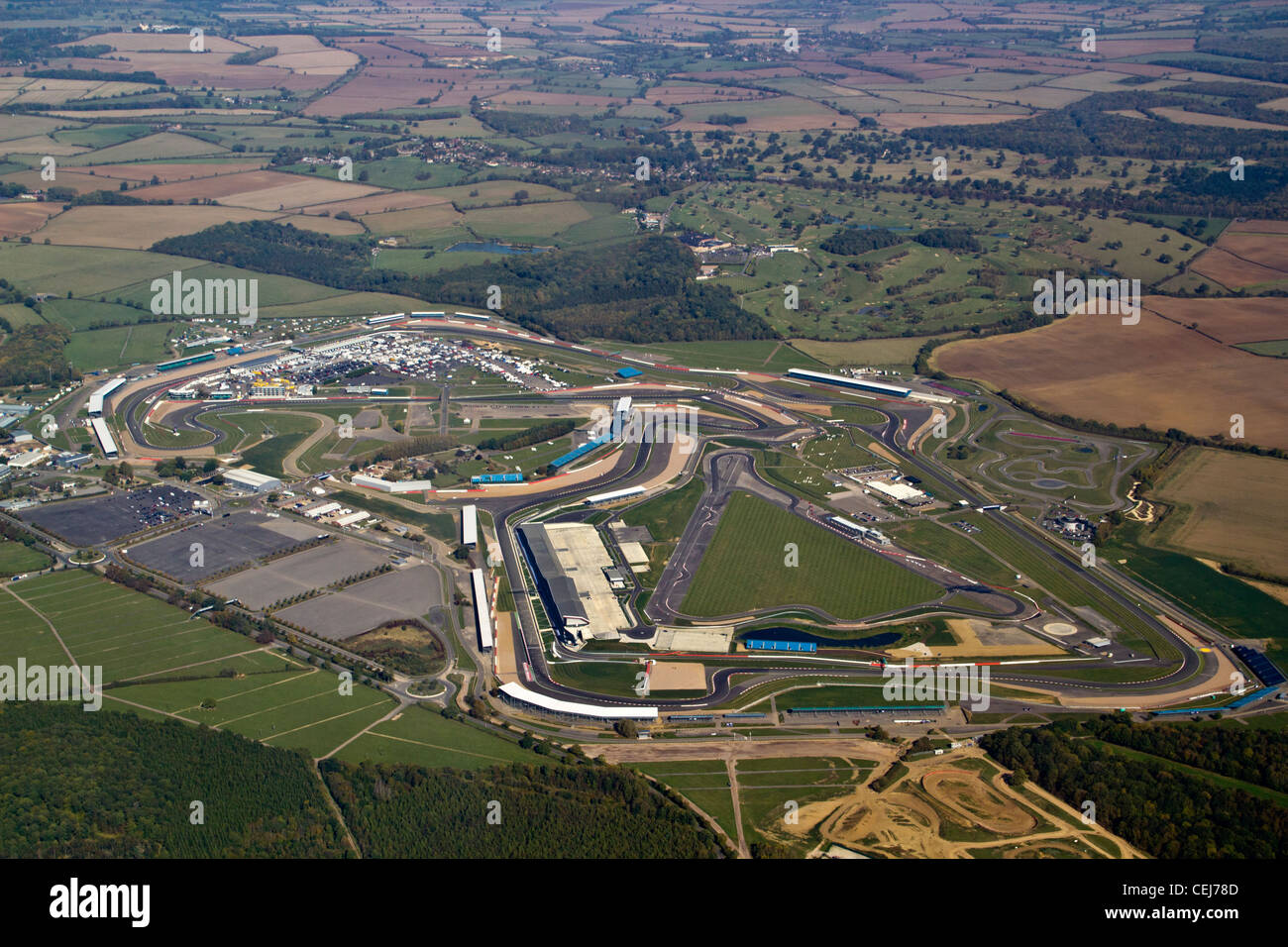 Silverstone race track from the air Stock Photo: 43426781 - Alamy