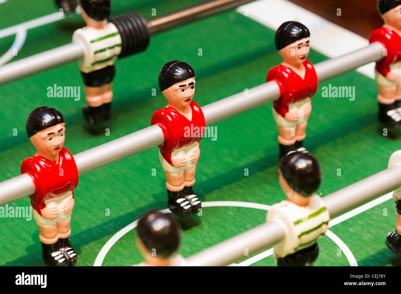 Table football players - Stock Image