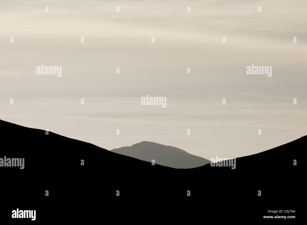 The Snowdon hills above Llanberis Stock Photo