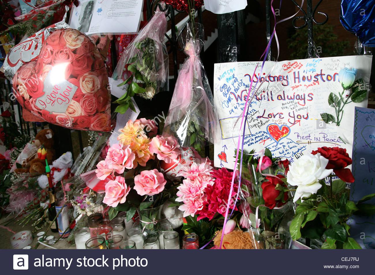 Whitney houston funeral home stock photos whitney houston funeral whitney houstons funeral preparations stock image izmirmasajfo