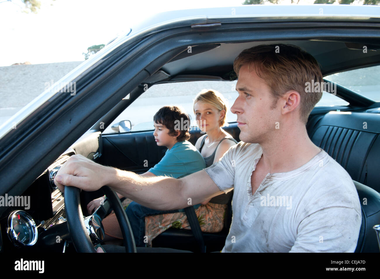 A mysterious Hollywood stuntman, mechanic and getaway driver lands himself in trouble when he helps out his neighbour - Stock Image