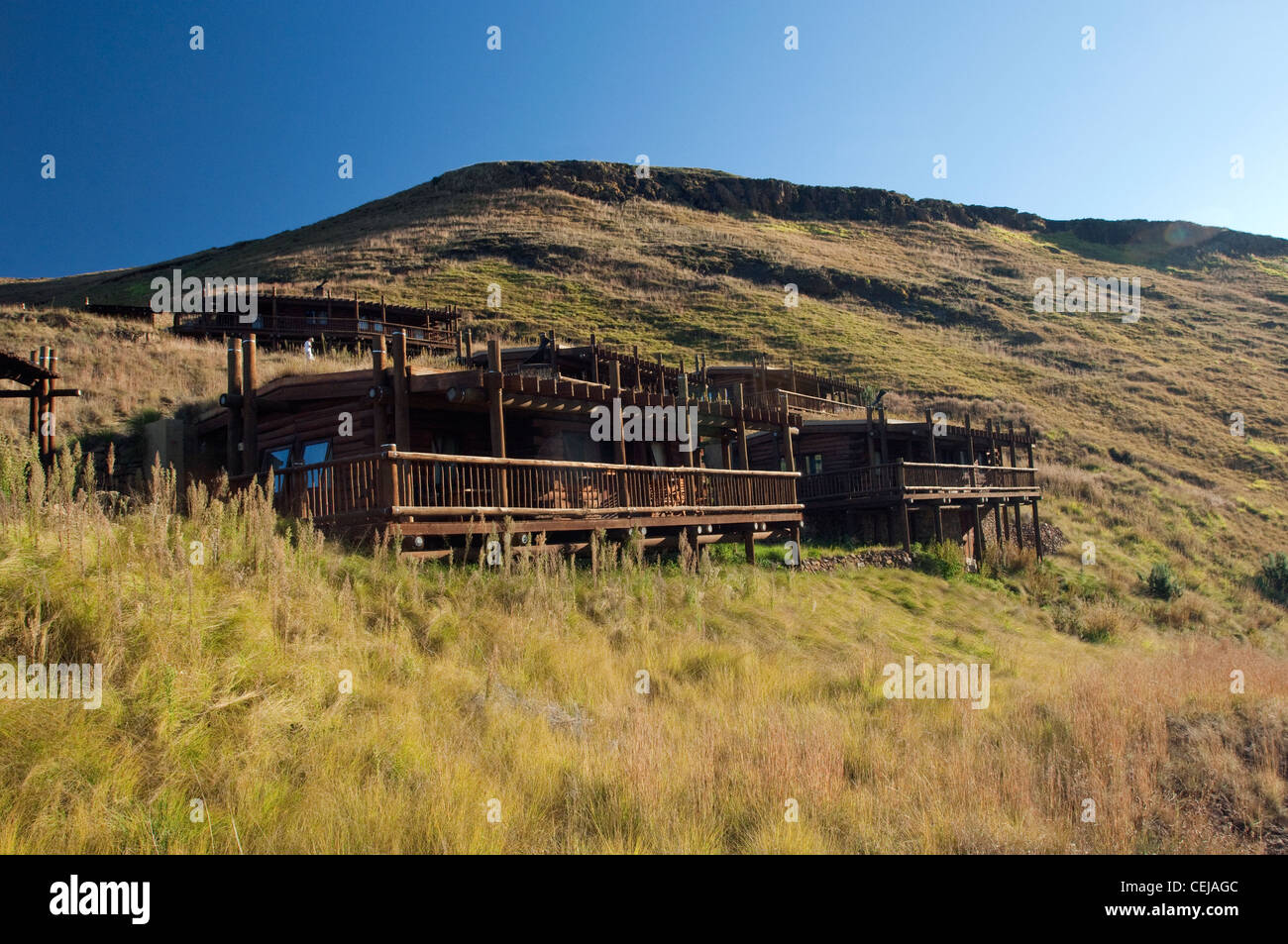 Highlands Mountain Retreat,Golden Gate,Eastern Free State Province - Stock Image