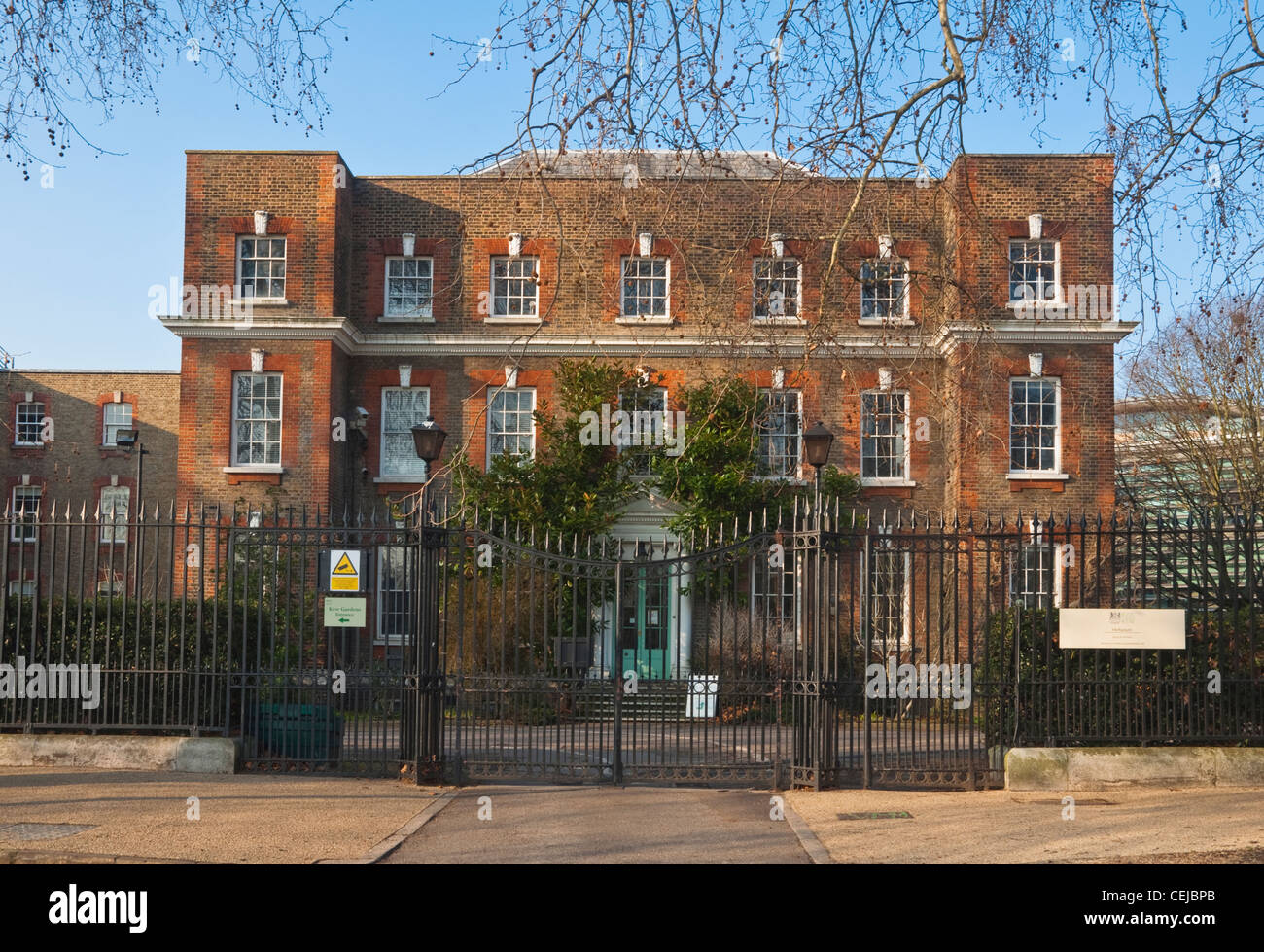The Herbarium, Kew Green, London - plant library and research centre for The Royal Botanic Gardens at Kew, Surrey, - Stock Image