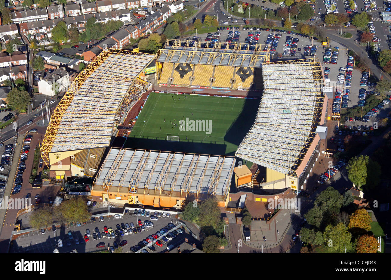 Aerial image of Wolverhampton Wanderers FC Molineux ground - Stock Image