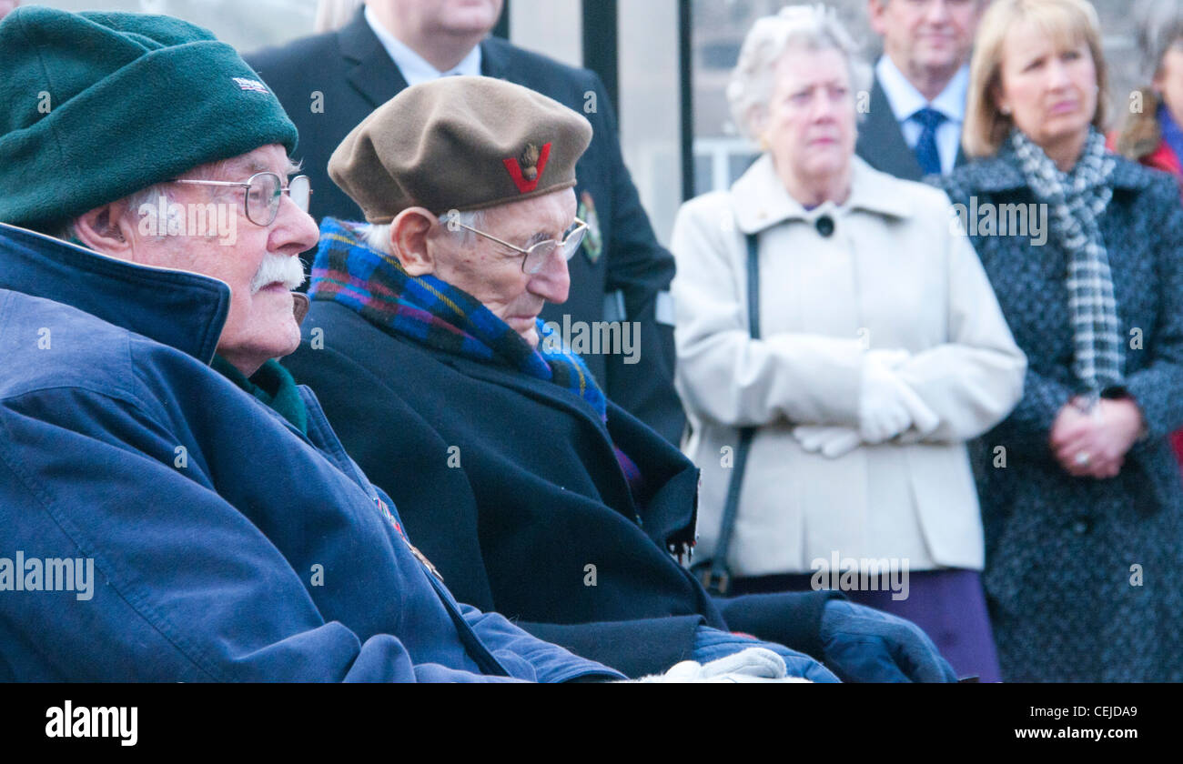 70th Anniversary of the Fall of Singapore, Eric Lomax in green hat, who's story was told in the film The Railway - Stock Image