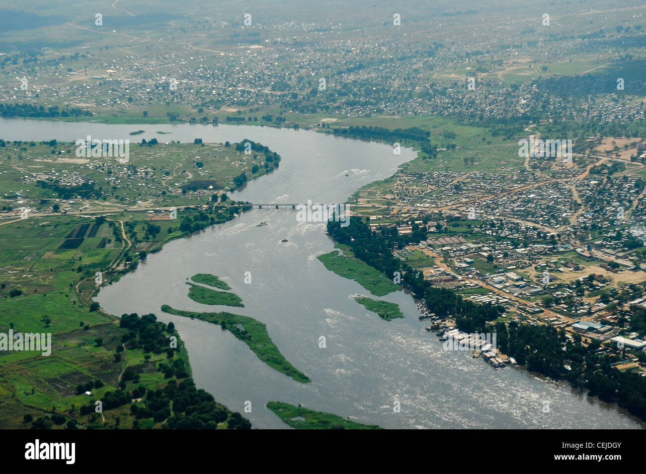 Africa SOUTH SUDAN aerial view of capital